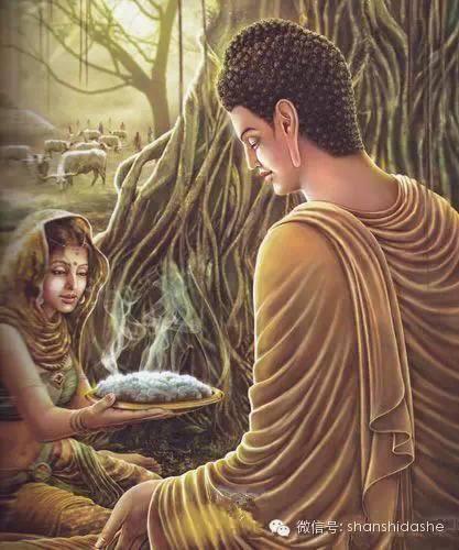 Cô thôn nữ tên là Sujata bố thí bánh gạo cho đức Thích Ca Mâu Ni